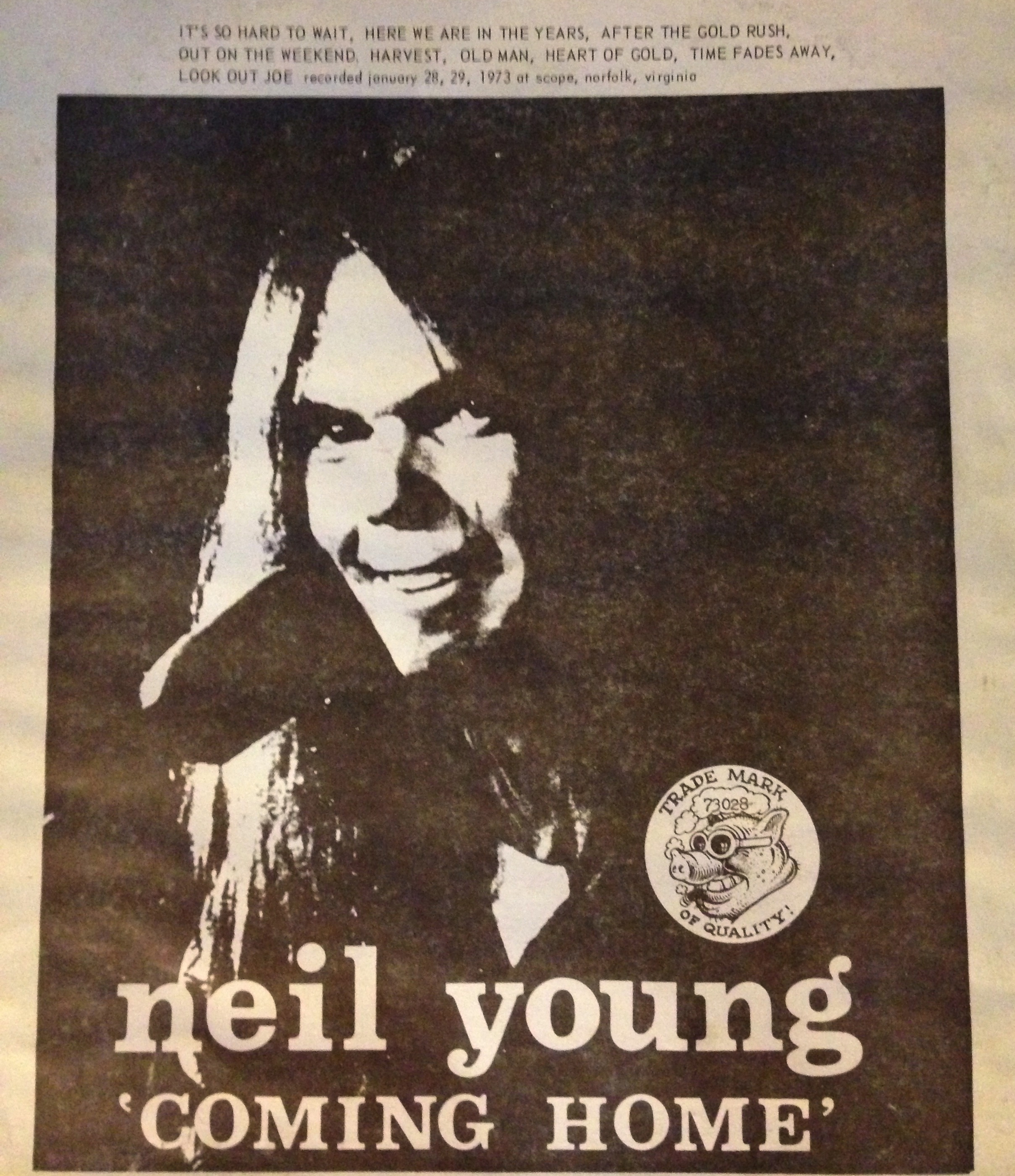 Neil Young Boots Neil Young Coming Home