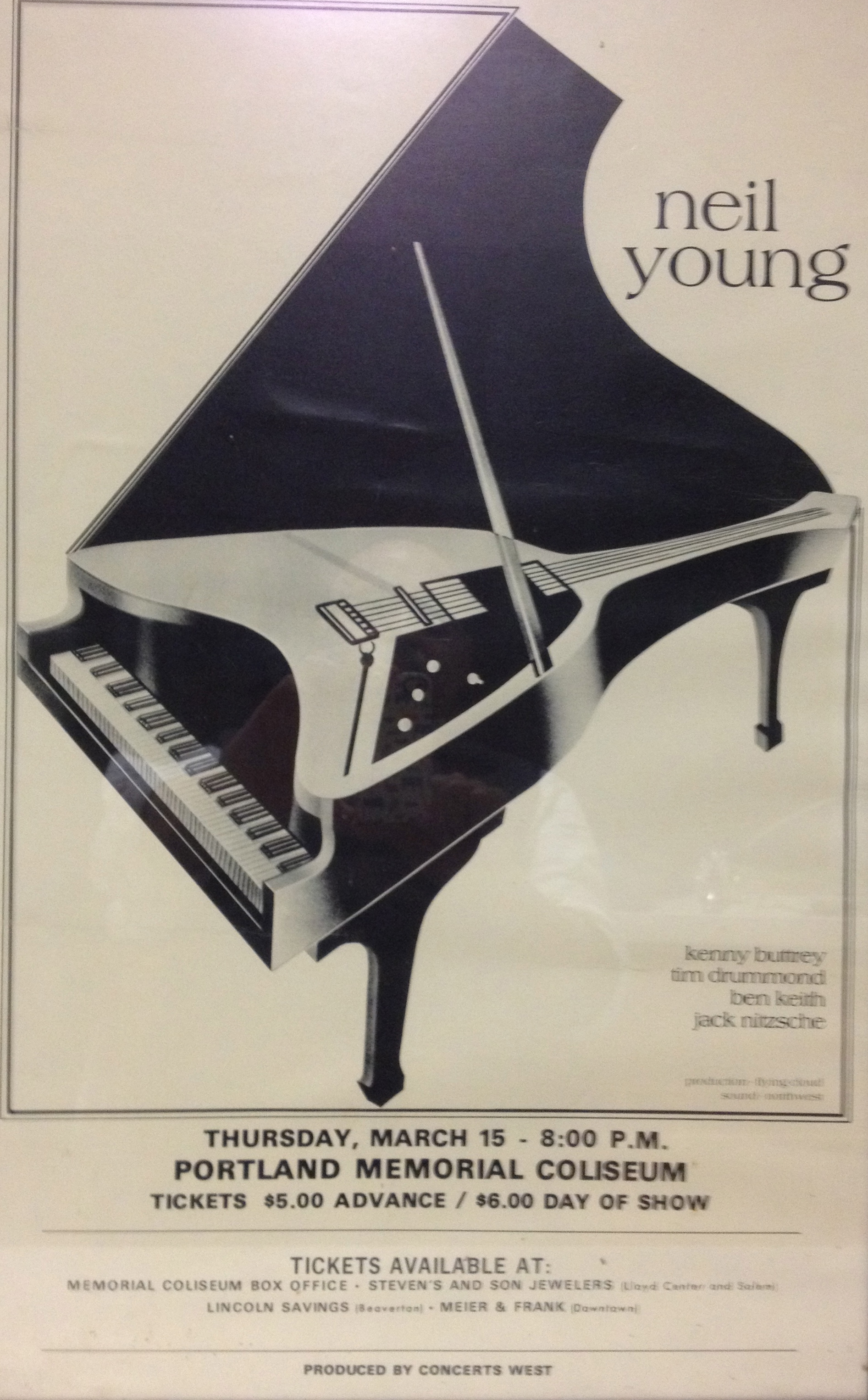 Neil Young Boots Neil Young Pdx 1973